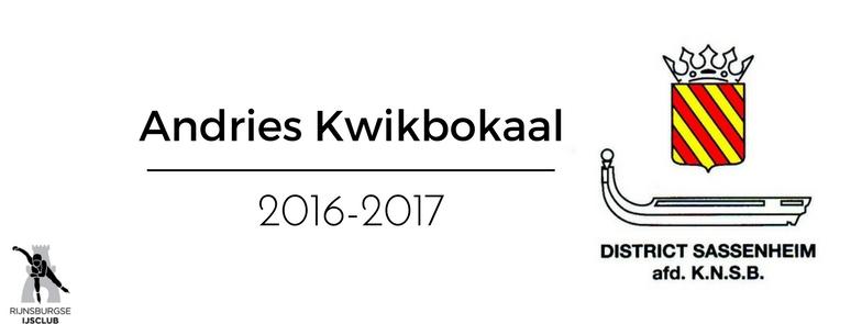 Uitslagen Andries Kwikbokaal   2016-2017
