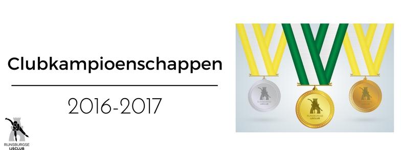 Uitslagen Clubkampioenschappen 2016-2017