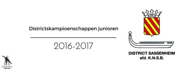 Uitslagen Districtwedstrijden Haarlem 2016-2017