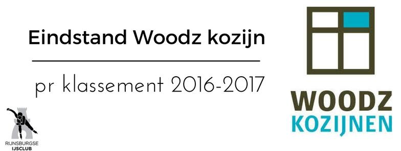 Eindstand Woodz Kozijnen Pr Klassement 2016-2017