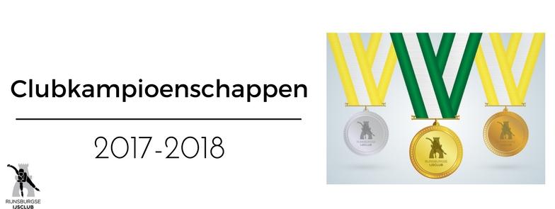 Uitslagen Clubkampioenschap 2017-2018