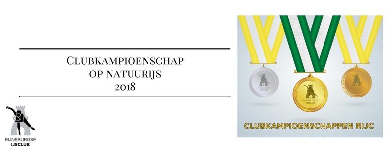 Uitslag Clubkampioenschap Natuurijs 2018