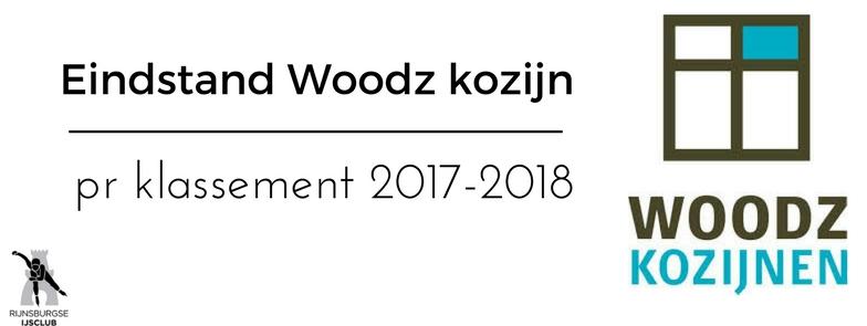 Eindstand Woodz Kozijn Pr Klassement 2017-2018