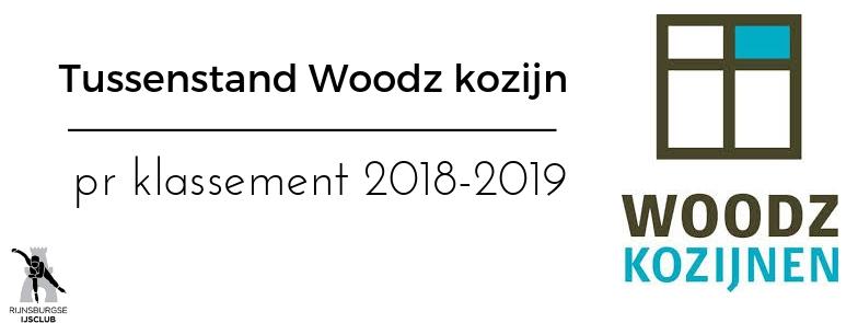 Tussenstand Woodz Kozijnen Pr Klassement 2018-2019