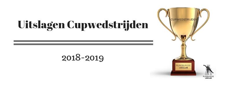 Tijden Cupwedstrijd 10 November 2018