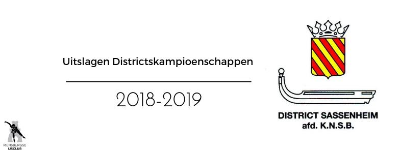 Uitslagen District Kampioenschappen 2018-2019